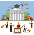 study work under construction technic in builder vector image