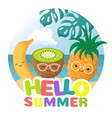 summer beach party background with tropical vector image