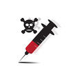 syringe drug vector image