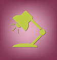 Table lamp Symbol office or school vector image