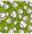 tennis ball pattern sport sketch seamless vector image