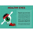The benefits of gymnastics for the healthy eyes vector image vector image