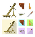 weapon and gun sign vector image