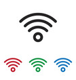 wifi icon vector image vector image