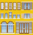 window and door vector image vector image