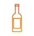 wine bottle drink beverage celebration vector image vector image