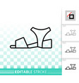 women shoes simple black line icon vector image vector image