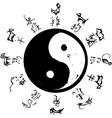 Yin Yang Zodiac vector image