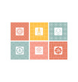 yoga studio logo set creative design element vector image vector image