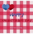 Bright 2015 Valentine s day card Hipster design vector image