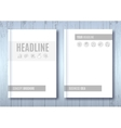 Brochure Mock-up Blank magazine Cover template vector image
