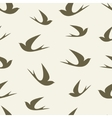 Stylized silhouette swallow pattern vector image