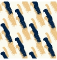 Seamless pattern with diagonal black and gold vector image