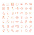 49 phone icons vector image vector image
