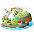 A colorful village vector image vector image