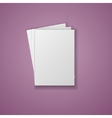 A4 Paper Sheet isolated on white background vector image vector image