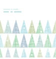 Abstract Christmas trees forest in snow horizontal vector image