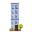apartment building tower city vector image