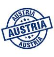 austria blue round grunge stamp
