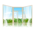 Background with an open window vector image vector image