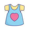 bashower cute dress shirt with heart female vector image vector image