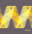 big data wavy background with motion effect 3d vector image