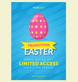 bold easter egg flyer template vector image vector image
