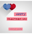 Bright 2015 Valentine s day card With long shadow vector image vector image
