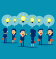 business people presenting ideas concept vector image vector image