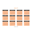 Calendar 2017 year simple style