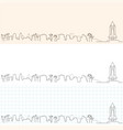 cape canaveral hand drawn skyline vector image vector image