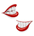 cartoon mouth with smile vector image vector image