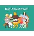 Cats and dogs pets group animal friends friendship vector image vector image