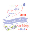 celebrate with us our wedding day festive poster vector image