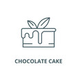 chocolate cake line icon chocolate cake vector image vector image