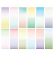 collection of 12 abstract bright gradients tender vector image vector image