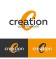 creation logo letter c logo logo template vector image vector image