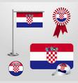 croatia flag design vector image vector image