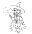 cute boy in magician costume outlined vector image vector image