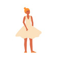 dancer or ordinary woman for female diversity vector image