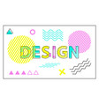 design colorful banner with geometric figures set vector image