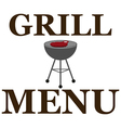 Design grill menu with barbecue vector image vector image