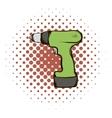 Drill comics icon vector image vector image
