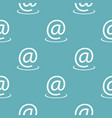 email address pattern seamless blue vector image vector image