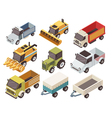 Farm Vehicles Isometric Set vector image vector image