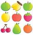 fruit logo vector image vector image
