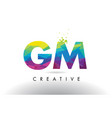 gm g m colorful letter origami triangles design vector image vector image