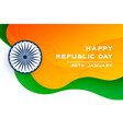 happy republic day india creative banner design vector image vector image