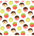 ice cream balls seamless pattern colorful sweet vector image