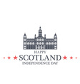 Independence Day Scotland vector image vector image